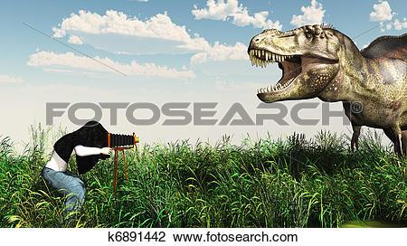 Clip Art of Wildlife Photographer k6891442.
