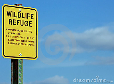A Wildlife Not Allowed Sign On A Beach Stock Photo.