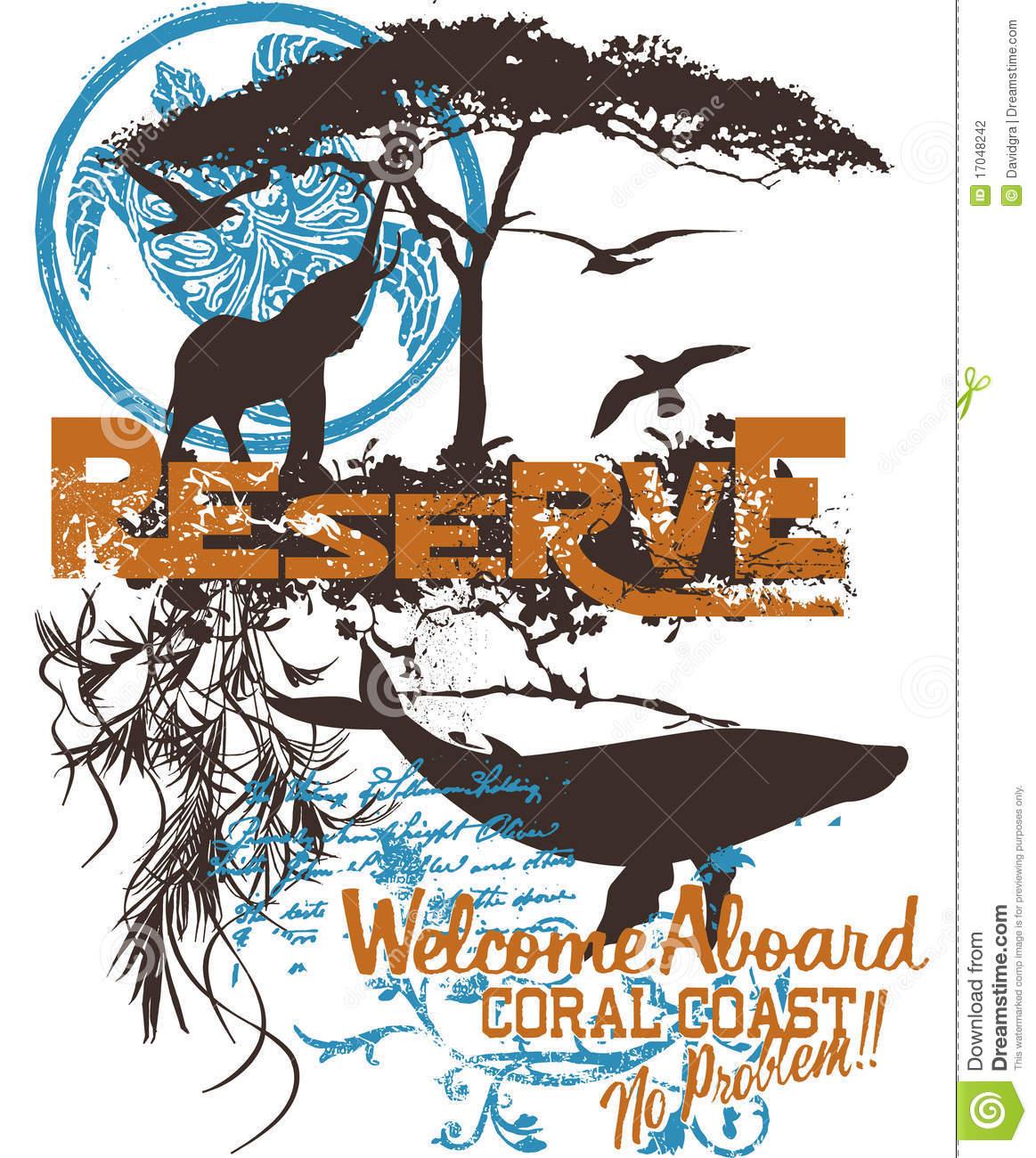 Wildlife Poster Stock Photography.