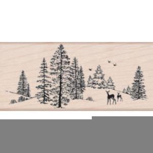 Christmas Scene Stamp.