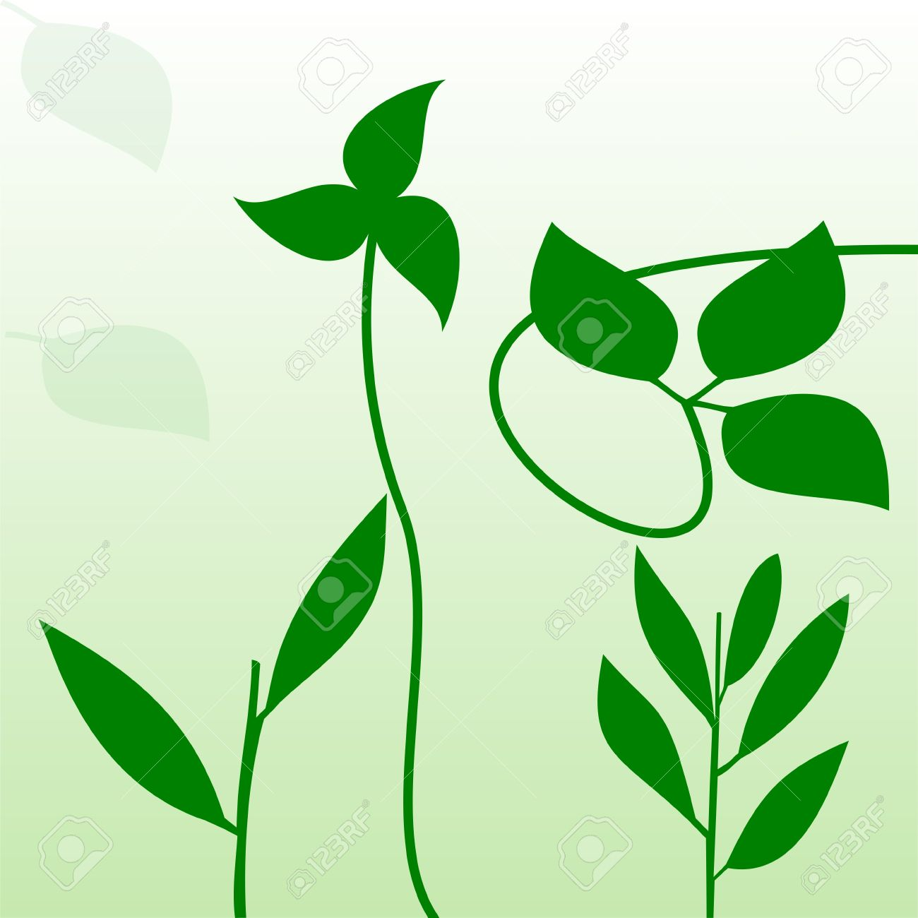 Illustration Reed And Wild Plant Royalty Free Cliparts, Vectors.