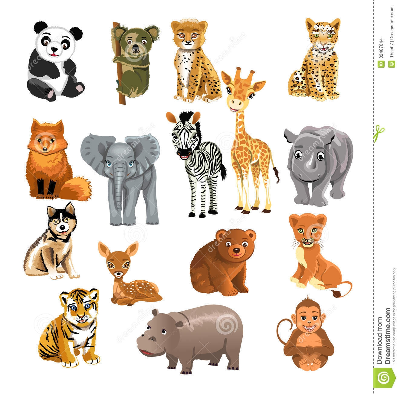 Clipart pictures of wild animals.
