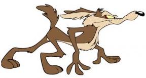 Wile E Coyote Clip Art.