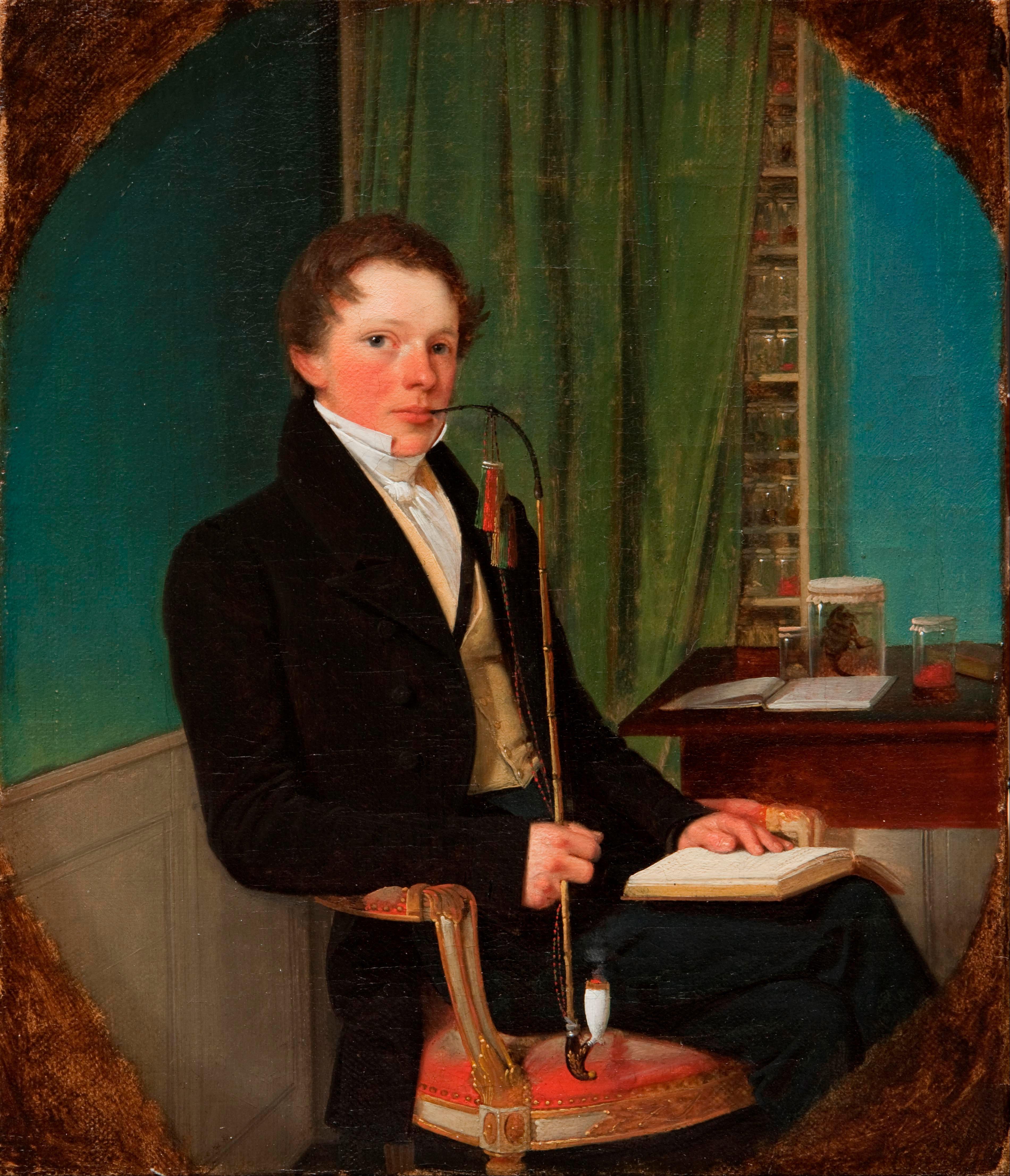 Portrait of the anatomist, Henrik Carl Bang Bendz., the artist's.