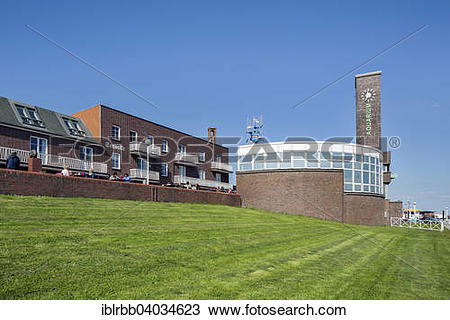 """Stock Photo of """"Strandhalle venue hall and aquarium at."""