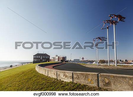 Pictures of Germany, Lower Saxony, Wilhelmshaven, Fliegerdeich.