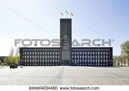 "Stock Photography of ""City Hall, architect Fritz Hoger."