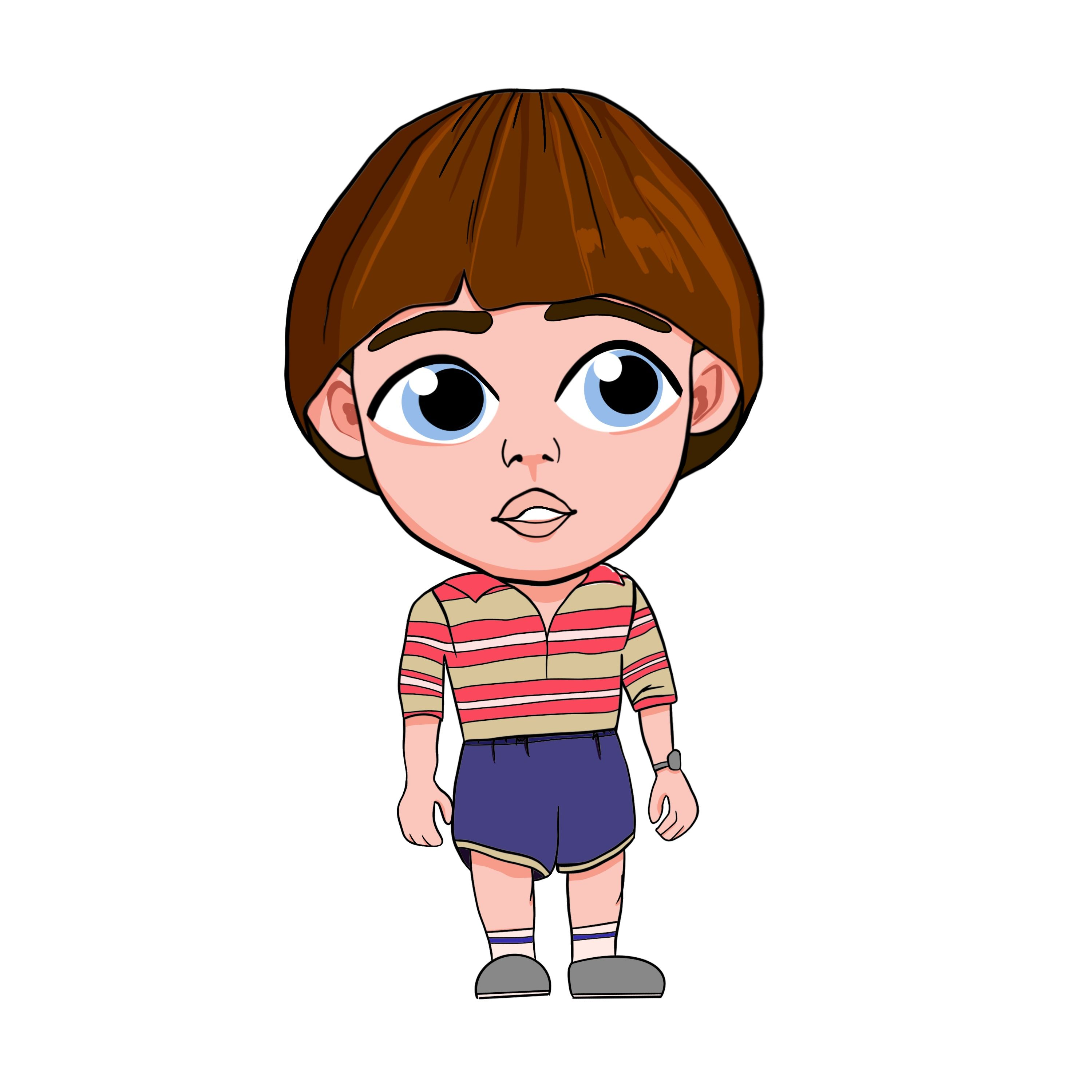 Svg Stranger Things Netflix clipart, 8 characters Eleven.