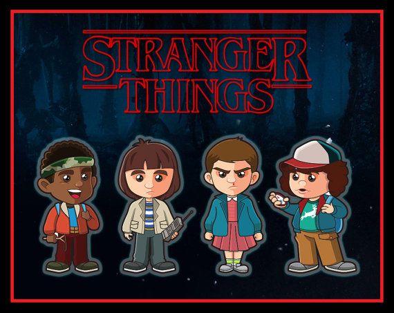 Stranger Things Sticker Clipart Set Illustration by.