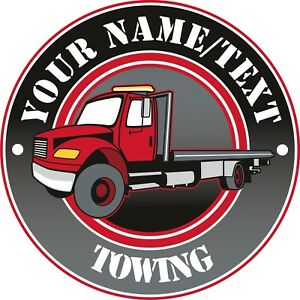 Details about Salvage Tow Truck Business Towing Service Hauling Custom  Decal 14\