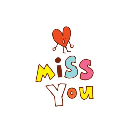 1,641 Miss You Cliparts, Stock Vector And Royalty Free Miss You.