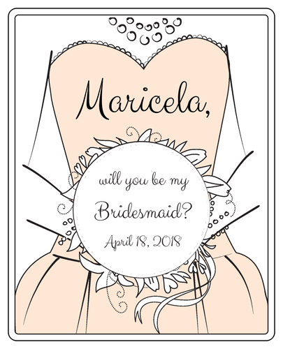 Will you be my Bridesmaid?\