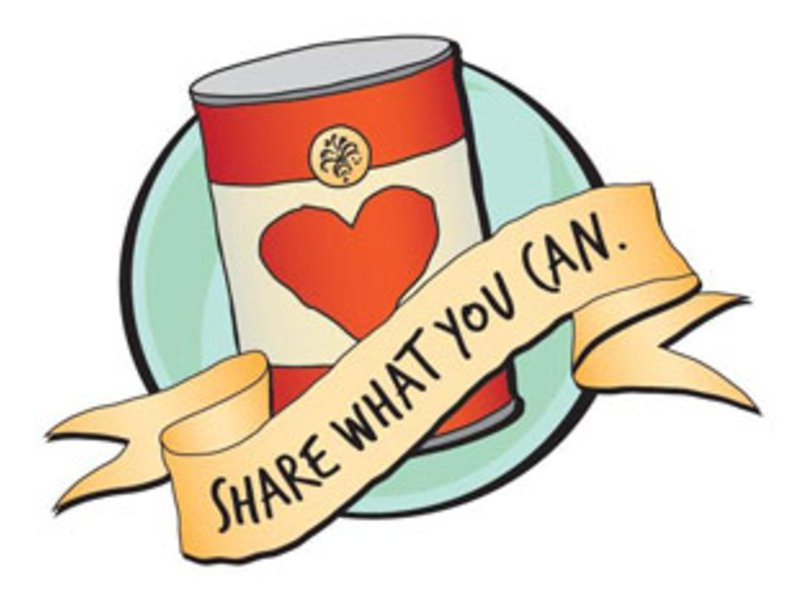 Can Food Drive Clipart.