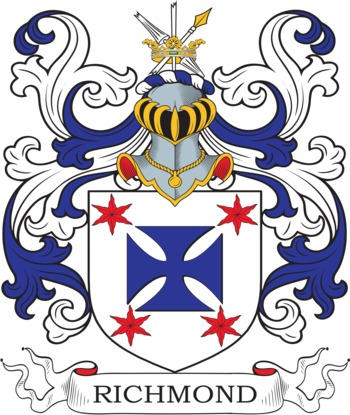 Richmond Coat of Arms Meanings and Family Crest Artwork : Search.