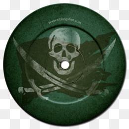 Free download Green Piracy Skull Convite Flag.