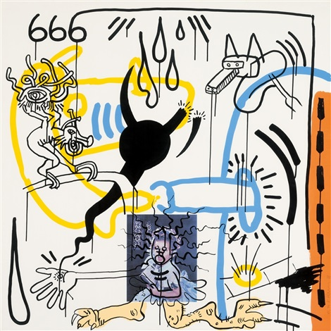 From William S. Burroughs, apocalypse, pl.8 by Keith Haring.