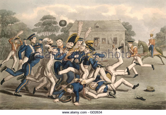 Rugby Football 19th Century Stock Photos & Rugby Football 19th.