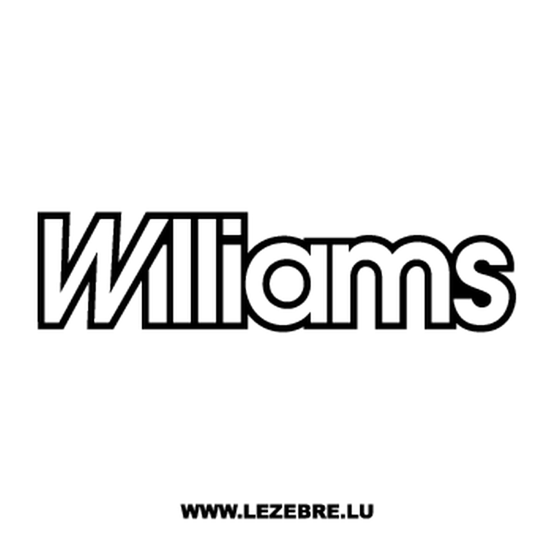 Williams Logo Decal.