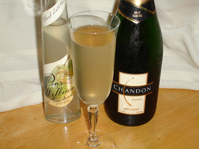 Poire William / Pear Champagne Recipe.