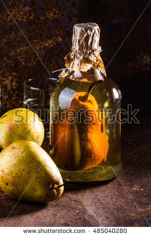 Pear Brandy Stock Photos, Royalty.