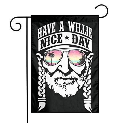 Amazon.com: Denise K Steinbach Willie Nelson Garden Flag 28X40.