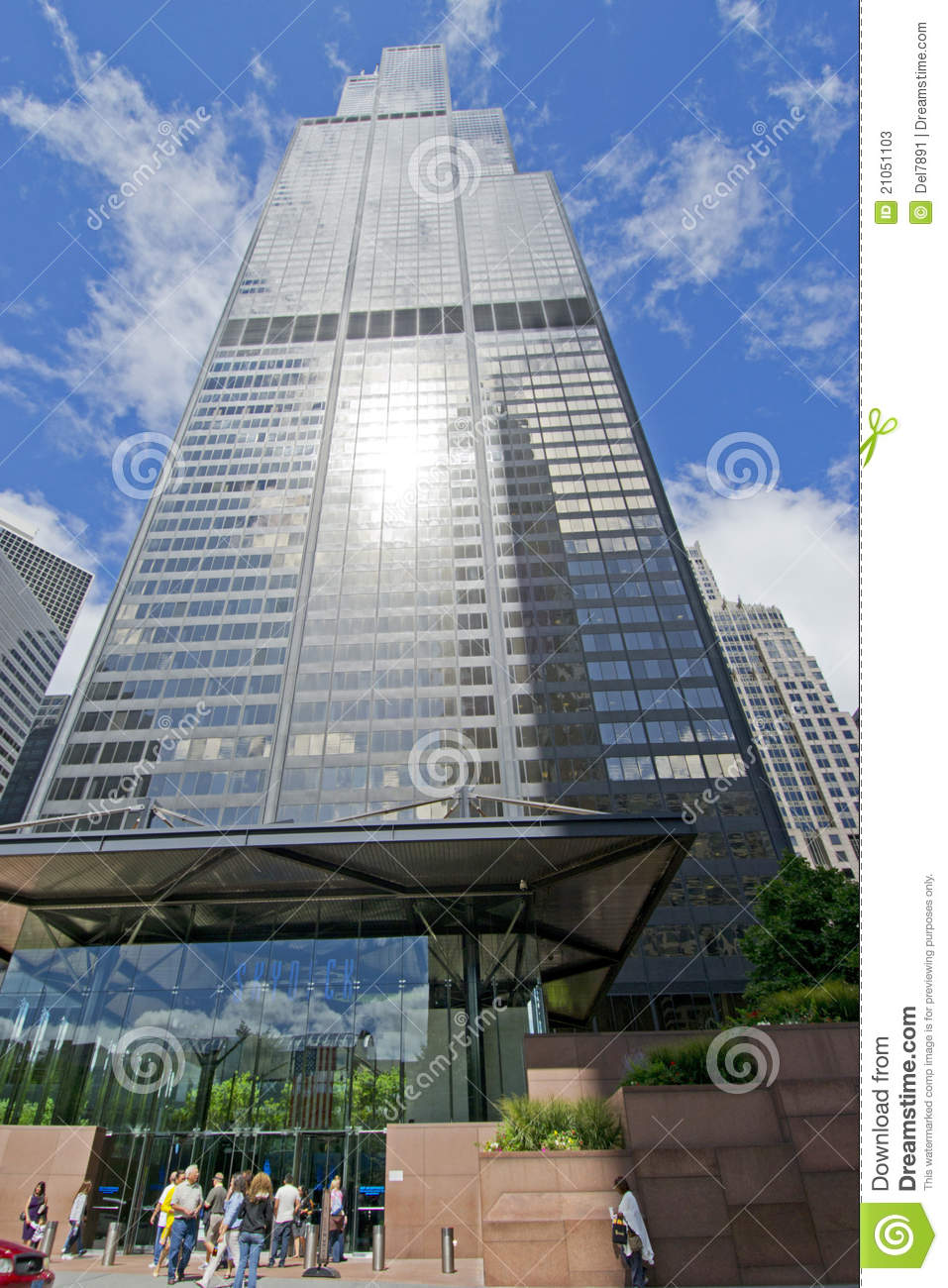 Willis Tower Sky Deck Entrance Editorial Stock Photo.
