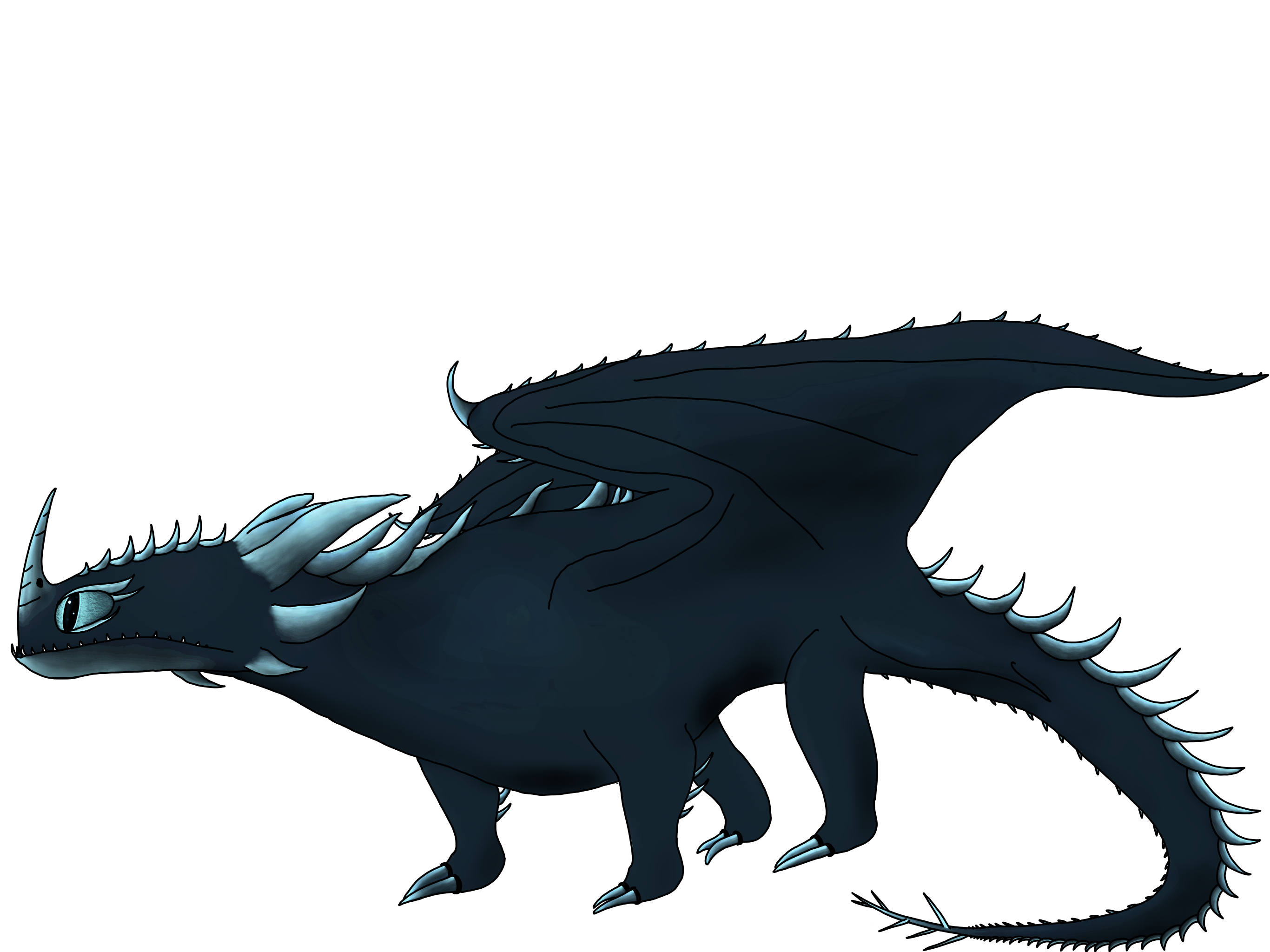 Realistic HTTYD Dragon Sketches.