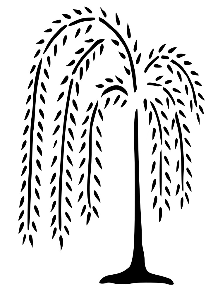Willow tree clipart.
