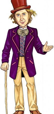 Willy Wonka cartoon Clipart.