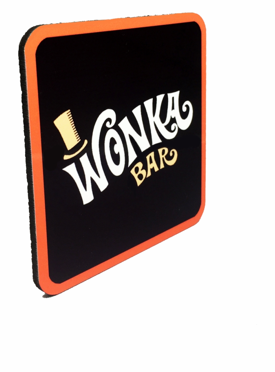 Willy Wonka Drink Coaster Willy Wonka Chocolate Bar.