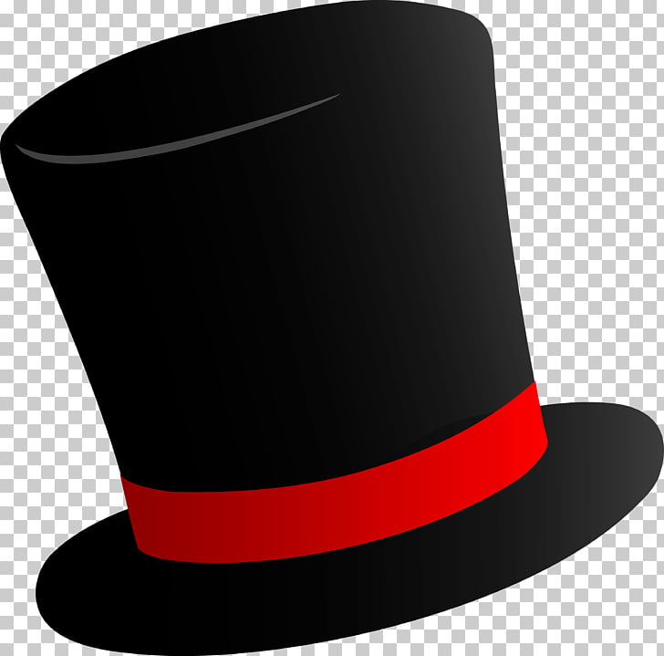 Willy Wonka Top hat Party hat , Cylinder Hat , black and red.
