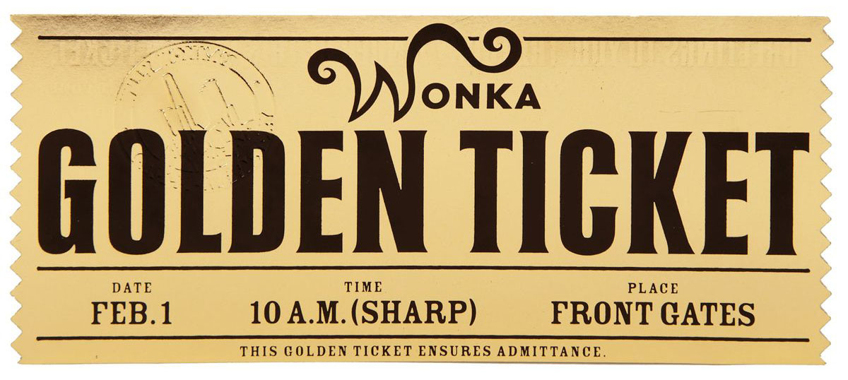 The Golden Ticket. 7 Best Images Of Editable Printable Wonka Golden.