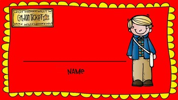 Name tags inspired by Willy Wonka.
