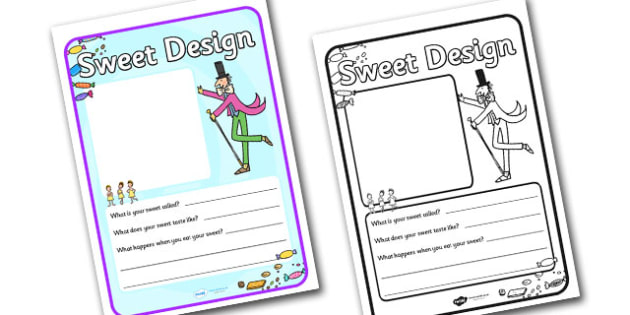 Willy Wonka Sweet Design Template.