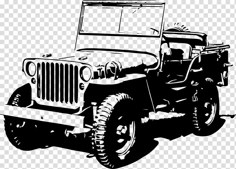 Willy\'s Jeep vehicle art, Jeep Wrangler Willys MB Jeep.