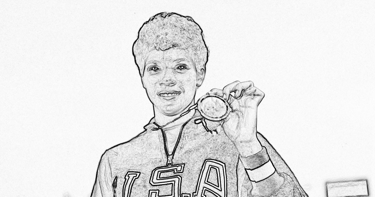 Wilma Rudolph Coloring Page.