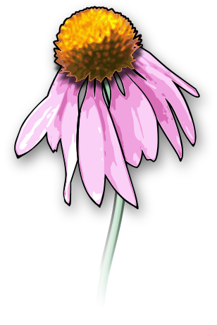Wilted flower clip art.