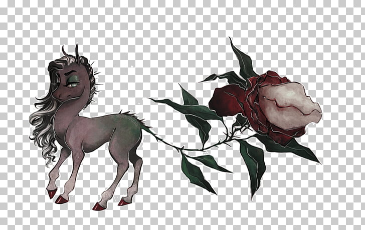 Horse Drawing Cartoon Pack animal, Wilted Rose PNG clipart.