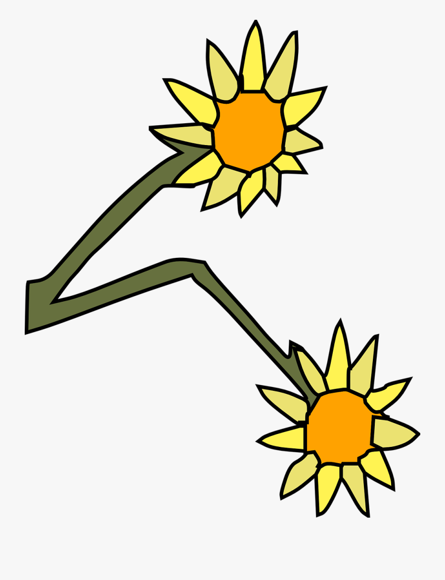 Two Wilting Flowers Clip Art.
