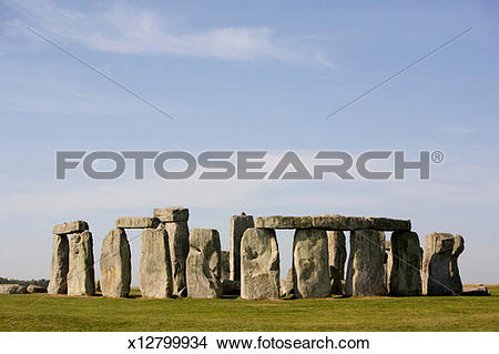 Stock Photo of England, Wiltshire, Salisbury Plain, Stonehenge.