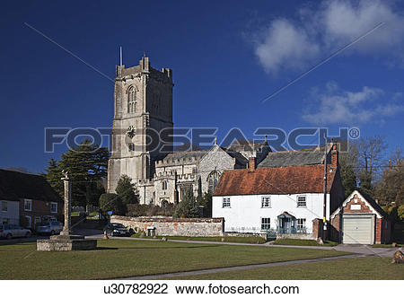 Stock Photo of England, Wiltshire, Aldbourne. The parish Church of.