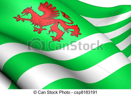 Clipart of Flag of Wiltshire County Council. Close up. csp8183191.
