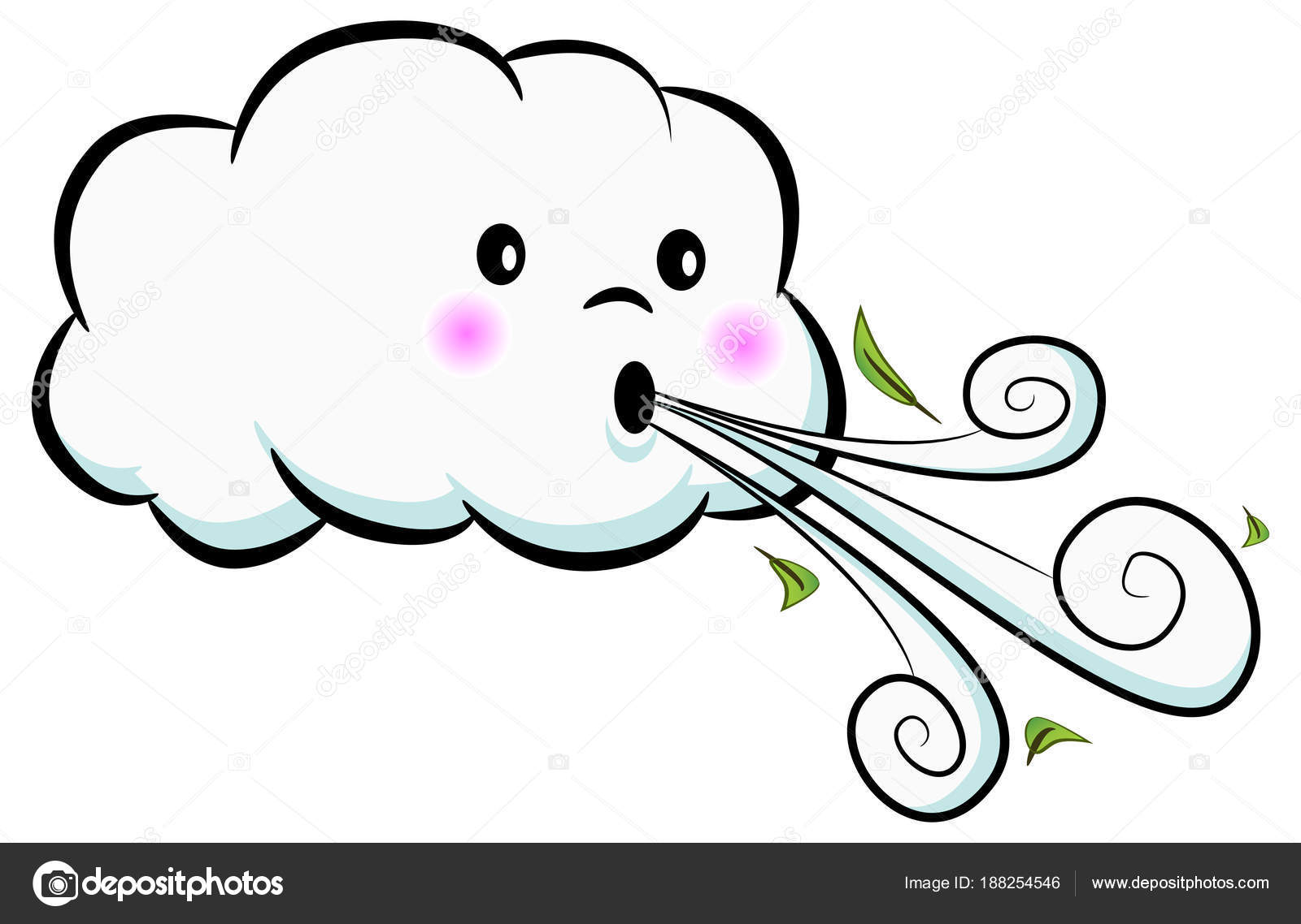 Cute Cloud Blowing Wind » Clipart Station.