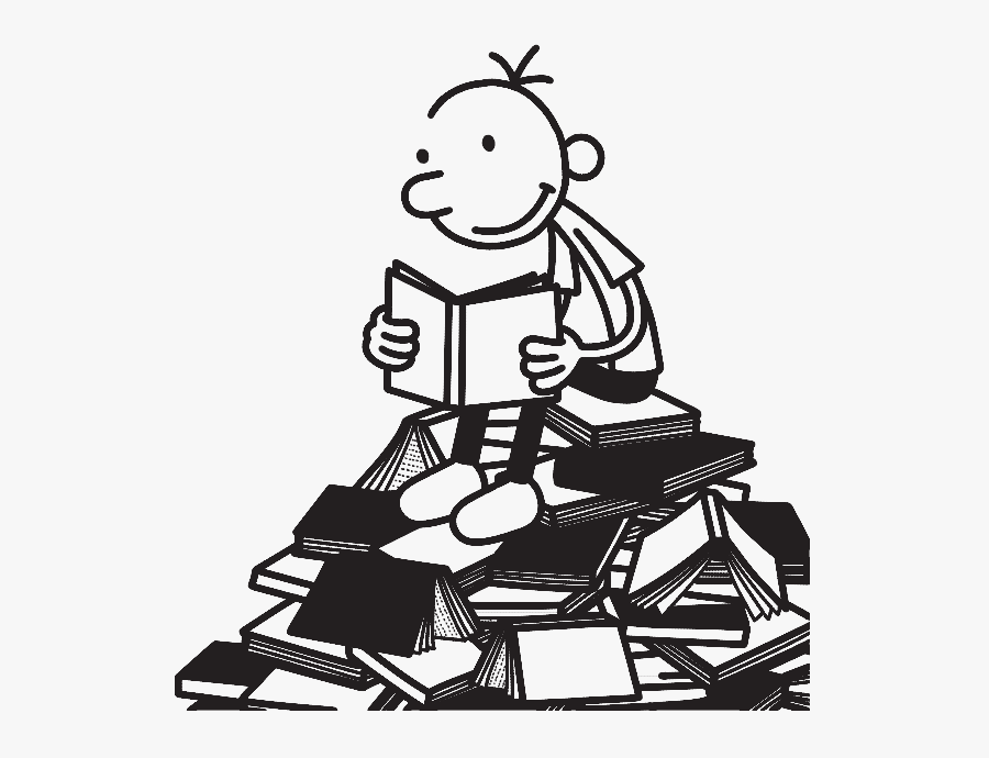 Diary Of A Wimpy Kid Greg Reading , Free Transparent Clipart.