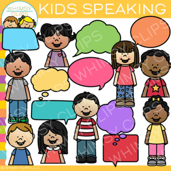 Kids Speaking Clip Art.
