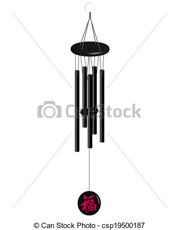 Vector of wind bells.