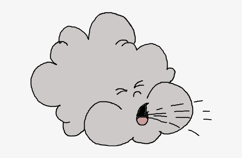Wind Blowing Clipart Kid.