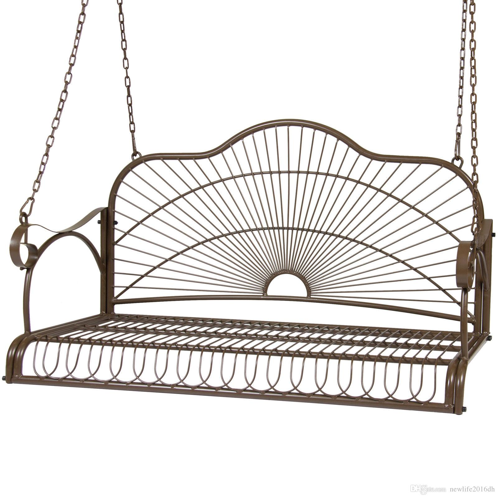2019 Iron Patio Hanging Porch Swing Chair Bench Seat Outdoor Furniture From  Newlife2016dh, $101.36.