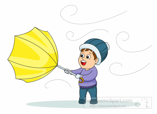 Weather umbrella blowing in wind clipart clipart.