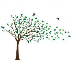 Wind Tree Clipart.